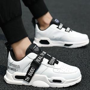 Image 1 - Platform Sneakers Men Wear resistant Vulcanized Shoes Boys Brand Running Shoes Man Sneaker male tennis Super star