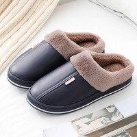 Wasserdichte Hausschuhe Frauen Männer Winter Plüsch Warm Halten Flache Hause Schuhe Frau Weichen Komfort Weibliche Pantoffel Nähen Innen Schuhe