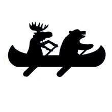 Motorcycle-Decal Decorative Car-Sticker Car-Window-Accessories Moose Canoe PVC Bear