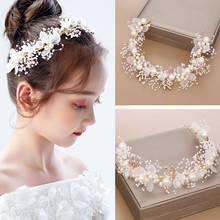 Children's Wreath Headgear Girl headband Princess Crown ornament flower show headband