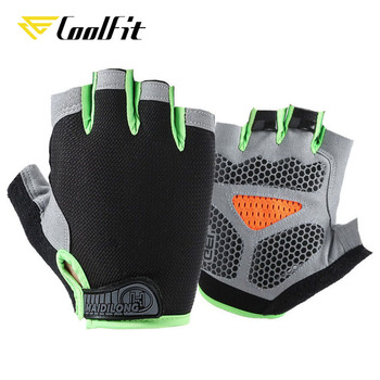 CoolFit New Cycling Anti-slip Anti-sweat Men Women Half Finger Gloves Breathable Anti-shock Sports Gloves Bike Bicycle Glove