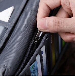 Image 2 - Saco do organizador do documento do bilhete da carteira do curso, suporte do passaporte da família