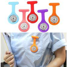 Silicone enfermeira relógio broche túnica fob relógio com bateria livre disponível para homem e mulher reloj eletrónico enfermera f5