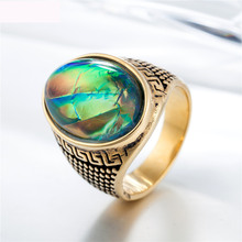 Luxury Oval Fashion Jewelry Rings High Quality Titanium Steel Casting Finger Ring For Men Party Gifts Free Shipping цена и фото