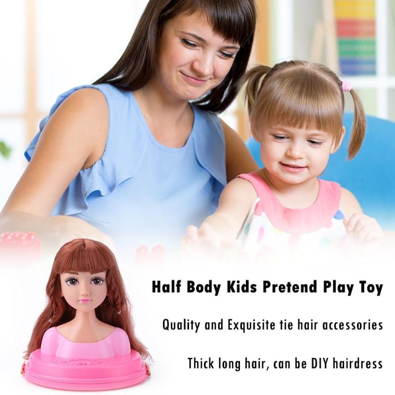 Kids Make Up Hairstyle Doll Set Princess Girl Dressing Cosmetic Pretend Play Toy Parent-child Interaction Closely United