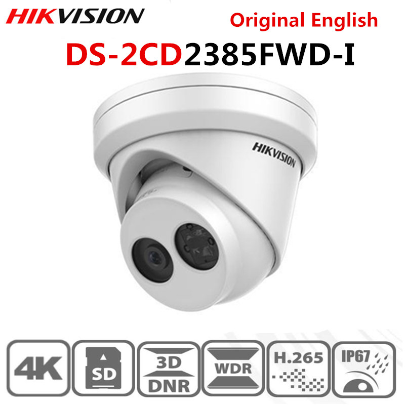 Hikvision 8MP IP Camera POE Outdoor Video Surveillance 4K Camera DS-2CD2385FWD-I met 30m IR Ingebouwde Sd-kaartsleuf & H.265 image