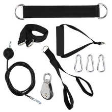 Pulley-Rope Weight-Lifting-Machine Fitness-Kit with Wheel-Accessory Triceps-Cable Arm-Strength