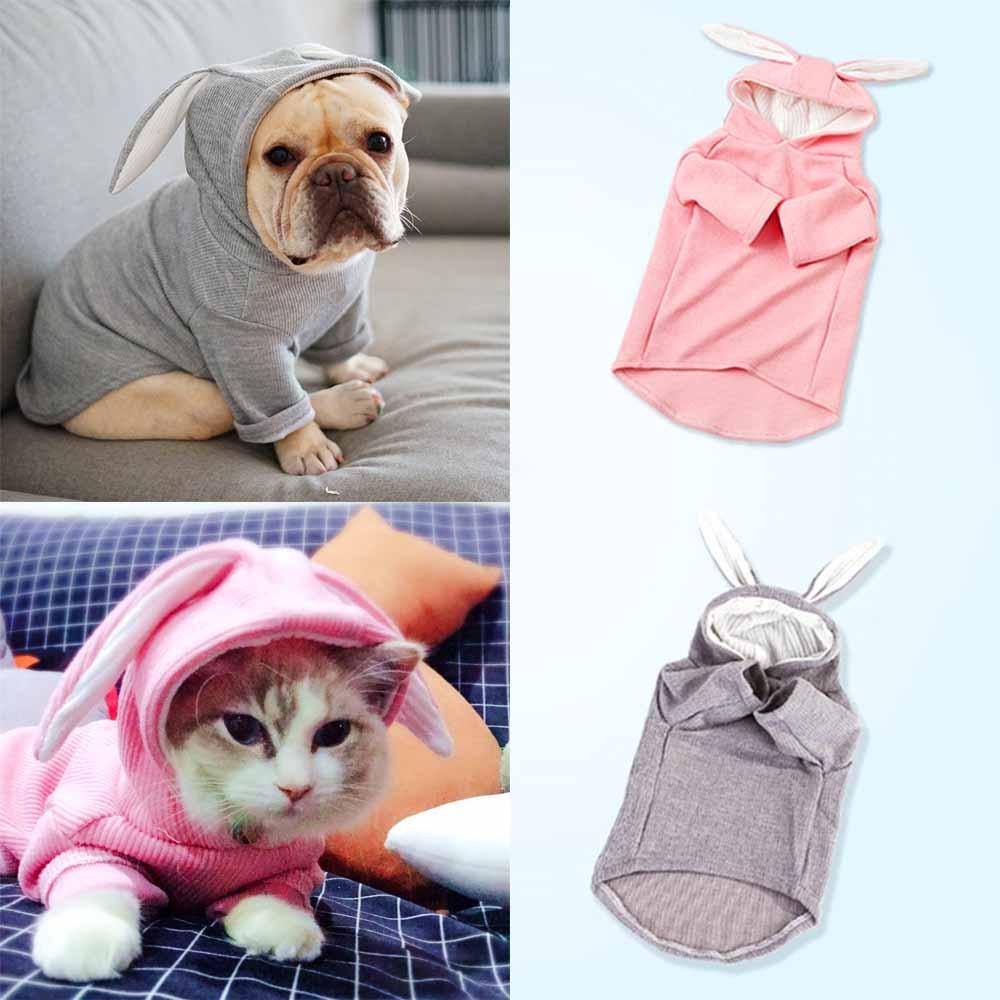 1Pcs Dog Bunnies Costume Dog Rabbit Costume Sweatshirt Pet Cold Weather Clothes for Small Dog Like Teddies