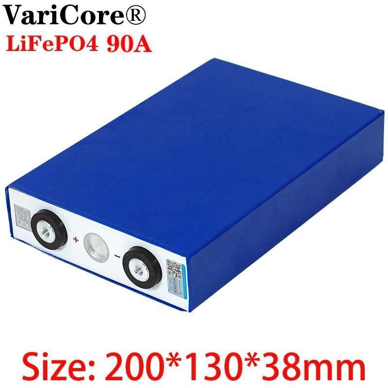 3.2V 90Ah batterie LiFePO4 Lithium fer phospha grande capacité 90000mAh moto électrique voiture moteur batteries