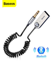 Usb-Dongles-Cable Speaker Audio-Transmitter Bluetooth-Adapter Baseus for Car AUX V5.0