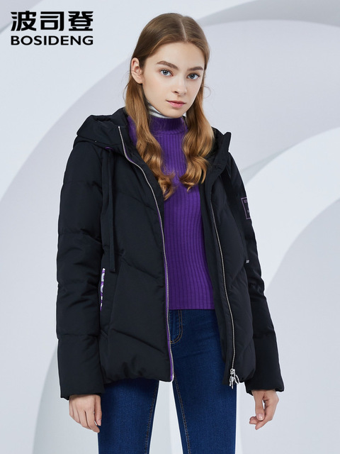 BOSIDENG Winter Waterproof Jacket Coats & Jackets Women color: Dark Gray|Ginger|light gray|Silver|White