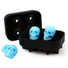 Moule à glaçons en forme de crâne | Moule à chocolat en forme de crâne, plateau à crème glacée, outil de bricolage, whisky vin Cocktail Cube à glace en Silicone 3D