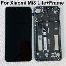 Pantalla LCD de repuesto para Xiaomi Mi8 Lite, montaje de digitalizador táctil + marco lateral, teclas voluminosas, 2280x1080, Original, nuevo