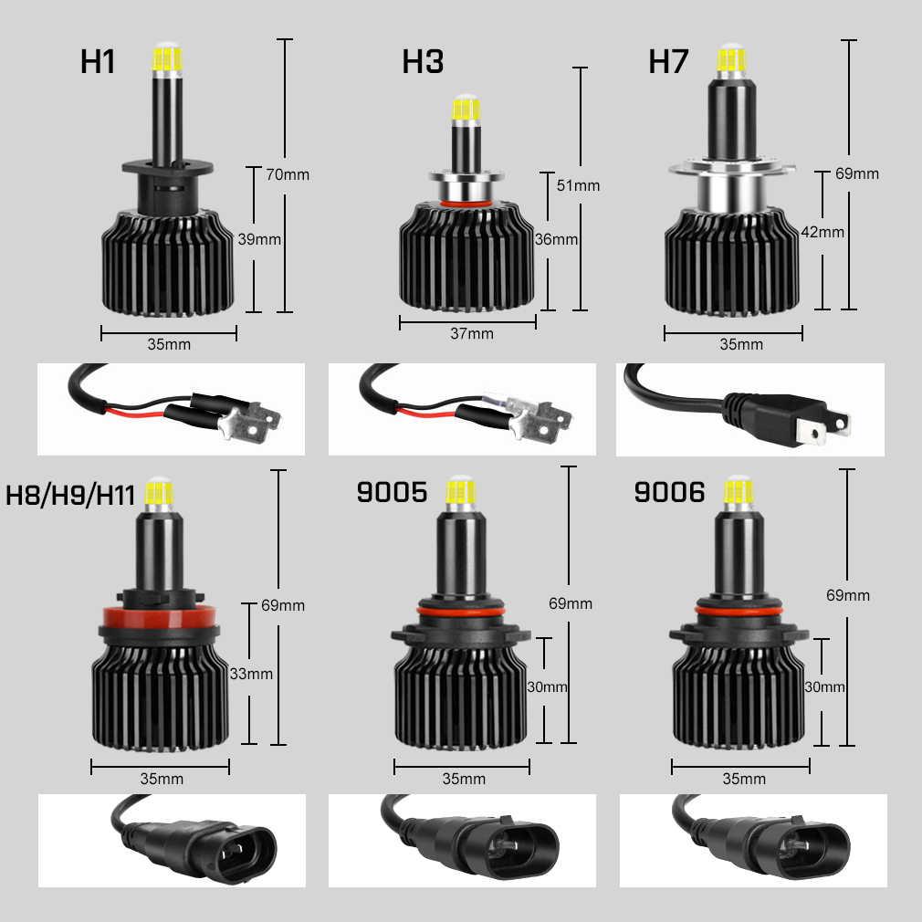 48CSP 16 Сторон H7 Светодиодные Автомобильные фары лампочки Canbus 6000 К H8 H11 H3 H1 HB3 9005 HB4 9006 360 градусов Автомобильный противотуманный фара h7 светодиодные лампы