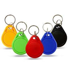 6 cores em4305 t5577 copiar reescrever duplicado rfid tag pode copiar 125khz em4100 cartão de proximidade token keyfobs anel