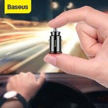 Baseus-Cargador rápido de móvil para coche, cargador miniUSB dual de 3,1 A, adaptador para coche, carga móvil y tableta
