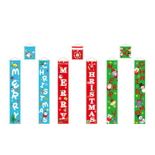 3pcs/Set Merry Christmas Porch Sign Decorative Door Banner Decorations for Home Hanging Ornaments Navidad