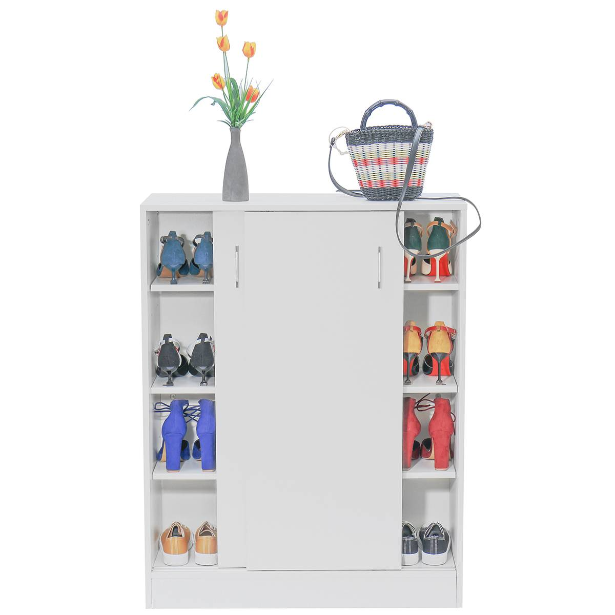 Shoe Cabinet Shoes Storage Rack 20 Pairs Wooden Organiser Shelf Cupboard Multi-Function Storage Cabinet Shoe Rack