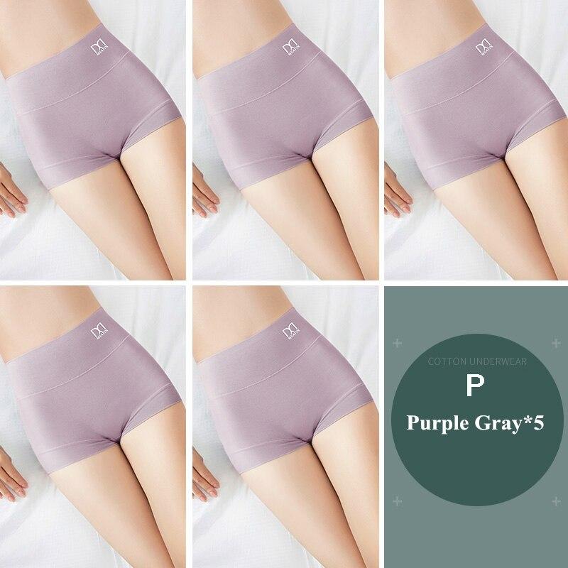 [3PCS/5PCS]/lot Women Silky Modal Panties Ladies High Waist Boyshort Breathable Soft Underwear Girls Briefs Safety Shorts Pants 13