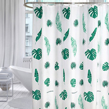 1pc Green Tropical Plants Shower Curtain Bathroom Waterproof Polyester Leaves Printing Curtains for bathroom shower
