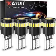 4x w5w t10 led canbus lâmpadas sem erro led interior do carro leitura luzes de estacionamento branco 12v para bmw audi mercedes benz