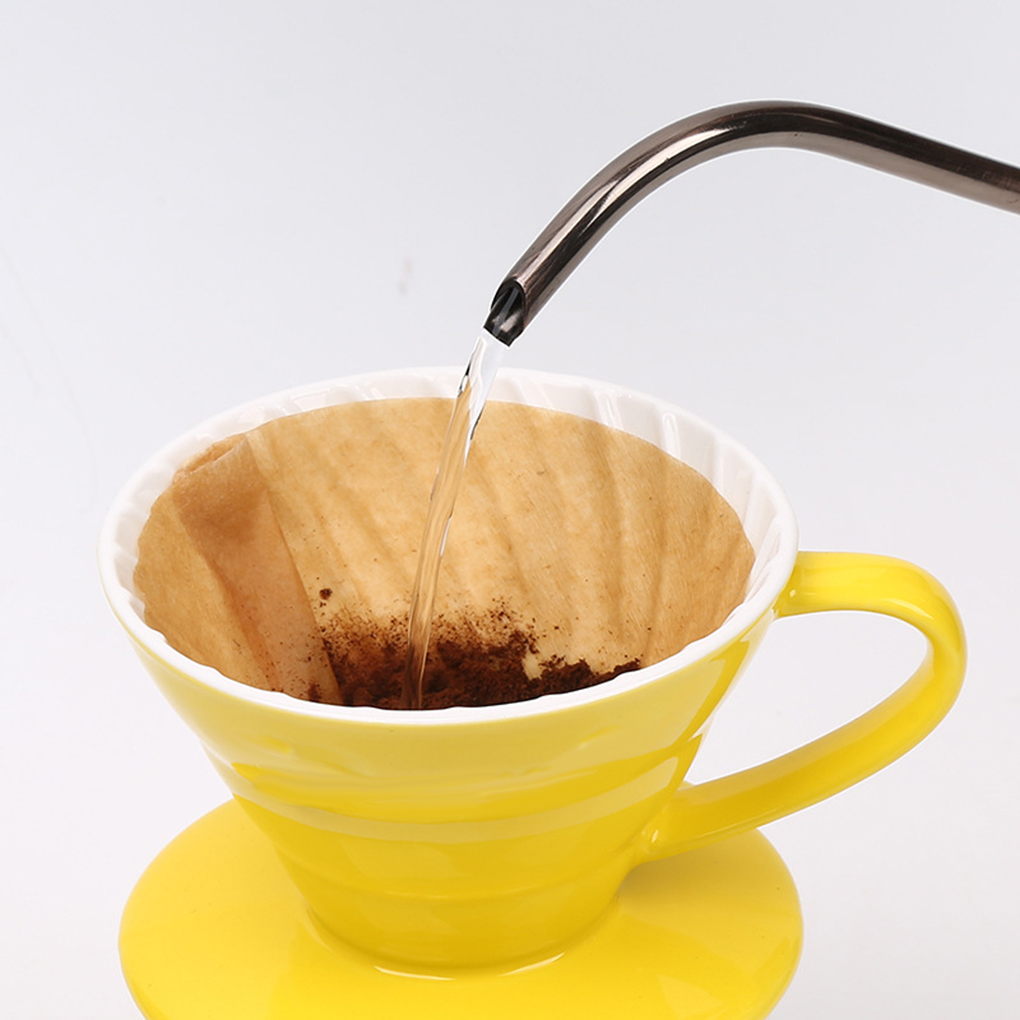 2 Boxes V60 Drip Machine Unbleached Wooden Paper Coffee Disposable Filters Conical 1-2 Serving