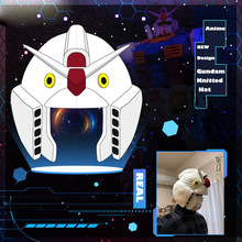 Funny Hat Gundam Anime Japan Cap Cosplay Winter Knitted-Hat Mobile-Suit Warm Woolen Kido