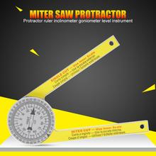 laoa 400mm aluminum 360degree range spirit level vertical flatness test ruler upright inclinometer with magnets protractor ruler Miter Saw Protractor ABS Digital Protractor Ruler Inclinometer Goniometer Mitre Saw Angle Meter Level Measuring Tool