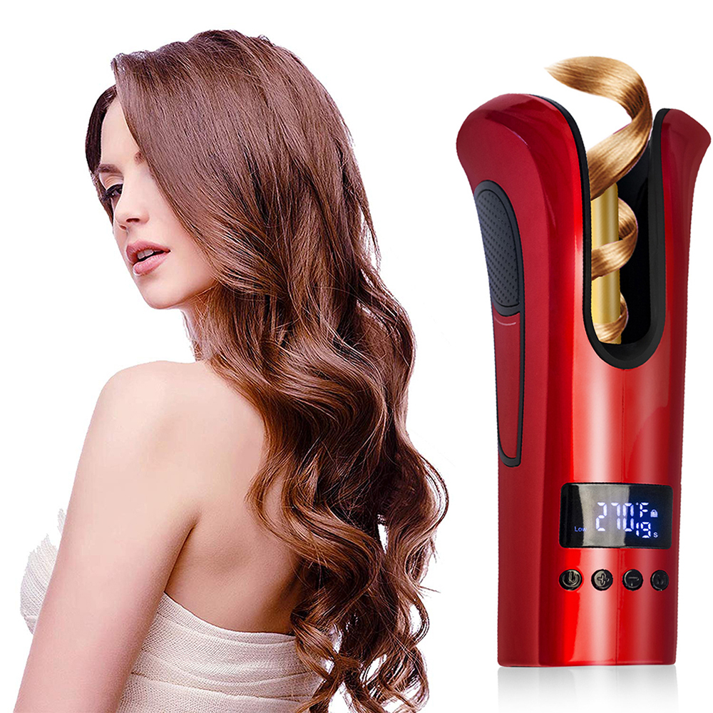 Professional Hair Curler Curling Wand Beach Wave Curling Iron Automatic Air Curler Hair Crimping Iron Air Spin Hair Curl Machine image