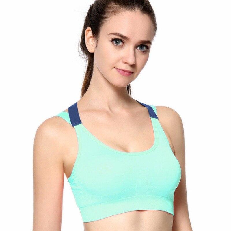 Женский спортивный бюстгальтер для занятий йогой с перекрестной повязкой на спине, спортивный бюстгальтер для бега и фитнеса