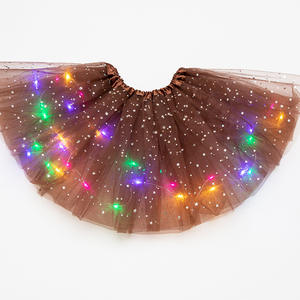 Tutu-Skirt Magic-Light Glitter Tulle Ballet Stars Girls Kids Princess Fashion Sequin