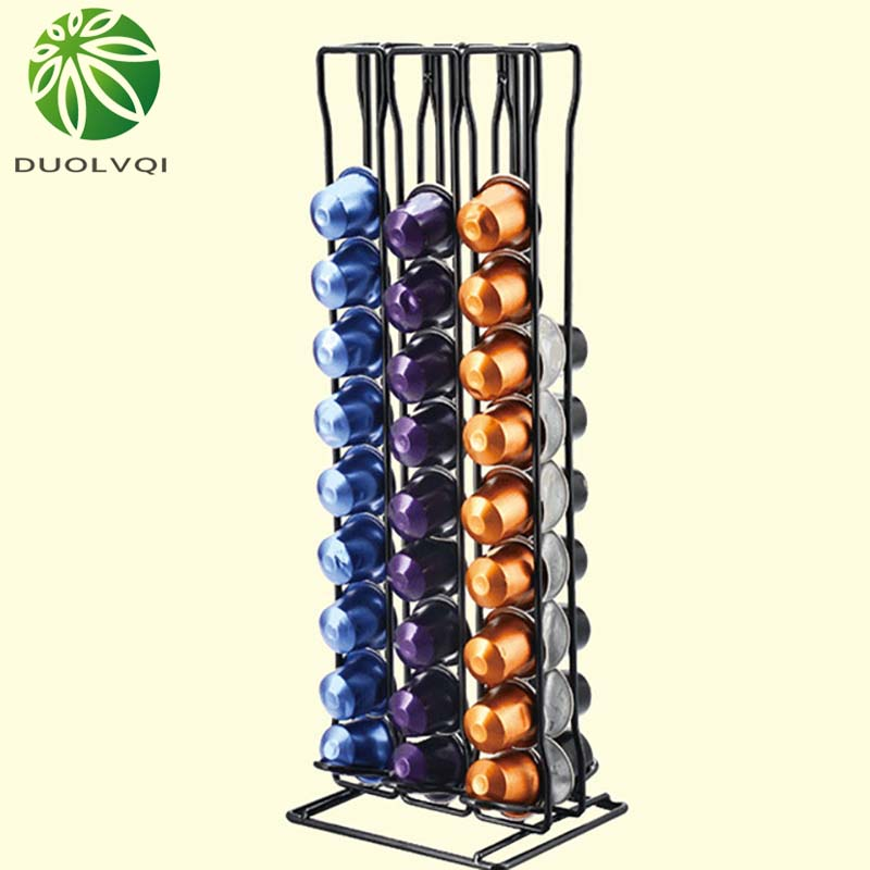 Practical Coffee Capsule Holder Coffee Pod Holder Tower Stand For 60 Nespresso Capsules Storage Soporte Capsulas Nespresso