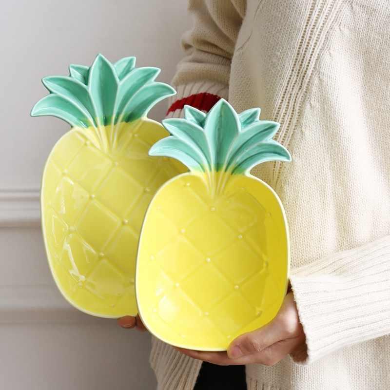 Mini Ananas Casa Gingillo Piatto Piatto Piatto di Ceramica Piatto di Salsa Di Soia Dishs Bambini di Riso Da Dessert Ciotola Spuntino Pratici Piccoli Doni