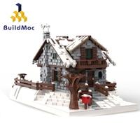 Buildmoc 38793 Winter Chalet Neige Chalet Resort Christmas Construction Blocs Child Toys Compatible Lepining