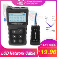 Testeur de courant multifonctionnel de testeur de câble de réseau d'affichage à cristaux liquides avec le testeur de câble et la tension intégrée de PoE de vérificateur de PoE