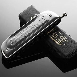 Немецкая оригинальная Хроматическая губная гармоника HOHNER 255/48 Chrometta 12 ключей C/Key of G Armonica moth Ogans, губная гармошка hohner