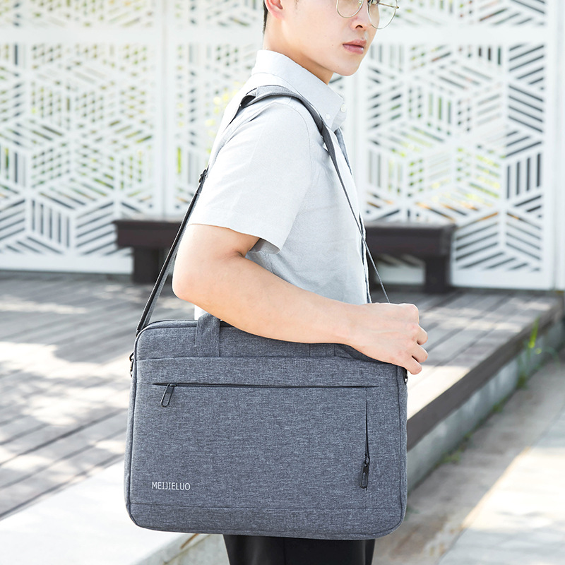 2019 New Briefcase Women Nylon Handbag Unisex Briefcase 1.5 Inch Men Office Bag  Portable Business Bag Bolso Oficina Mujer