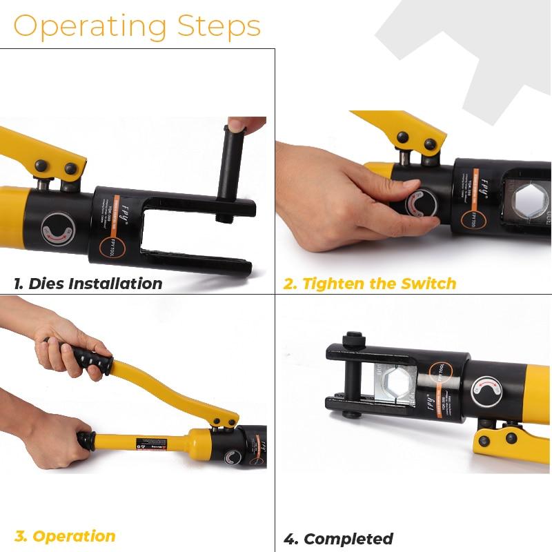For 16 Hose Connectors 300mm Plier Press Tools Hydraulic YQK Crimping Crimping AL CU Hydraulic 300 Manual