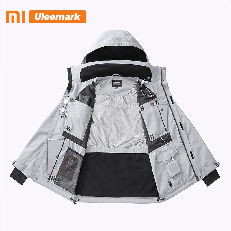 Xiaomi Men's Waterproof Jacket Lightweight Packable Rain Coat Sport Jacket Hooded Windbreaker Uleemark 2