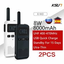 2 pces walkie talkie ksun ksm3 civil quilômetro de alta potência interfone portátil ao ar livre mini rádio talkie walkie