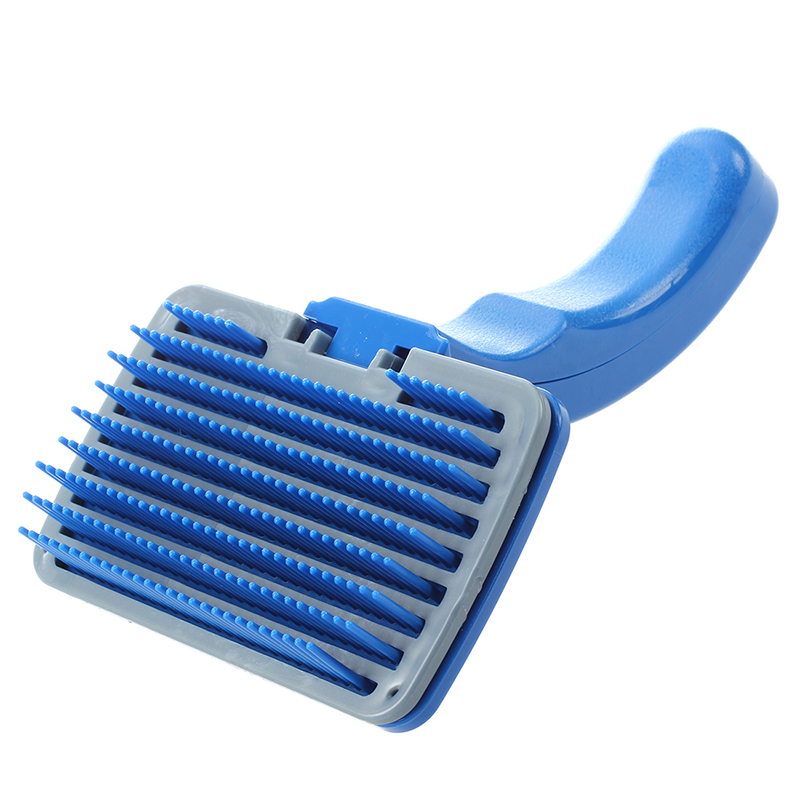 New Brush Cleaning Grooming Hair For Dog Animal Cat Blue