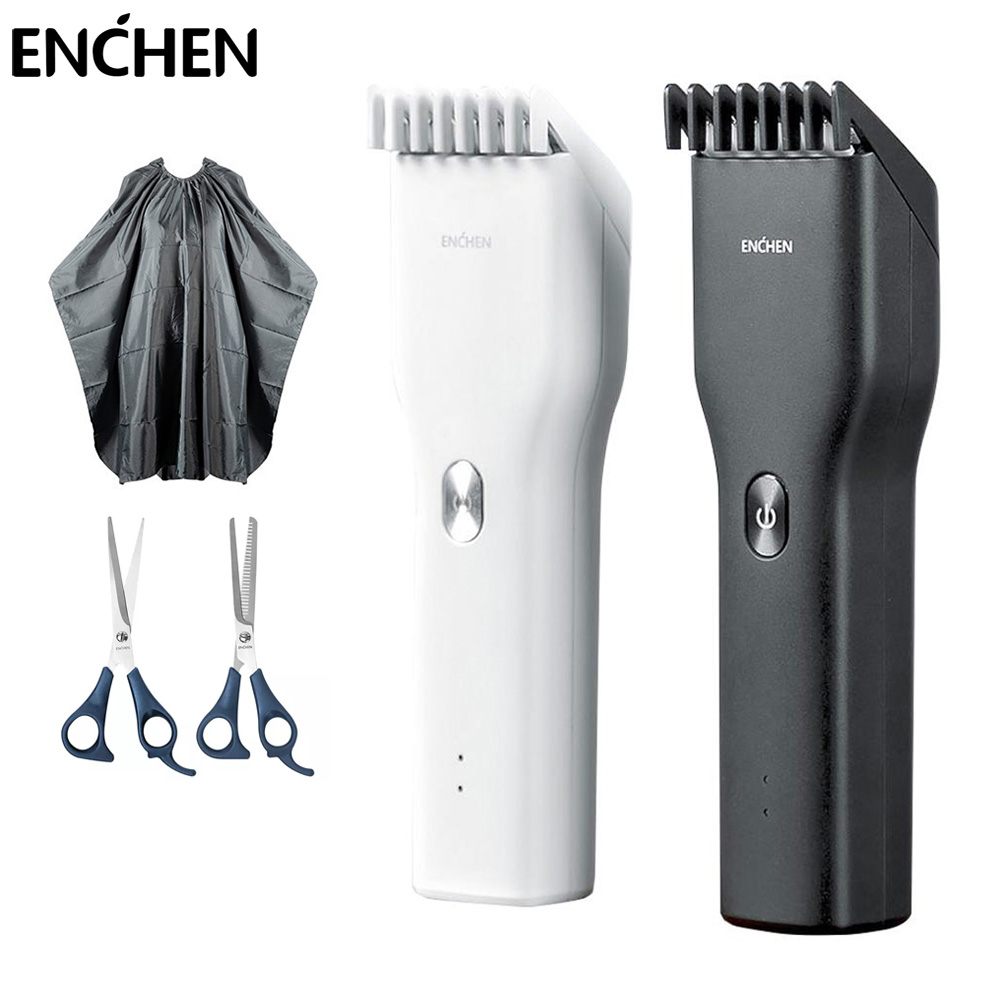 ENCHEN Boost Hair Trimmer For Men Kids Cordless USB Rechargeable Electric Hair Clipper Cutter Machine With Adjustable Comb
