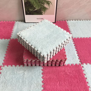 10Pcs/Lot Soft Plush Baby Play Mat Toys Eva Foam Infant Developing Mat Rug Puzzle Interlock Floor Mats 30*30 CM Kids Rug