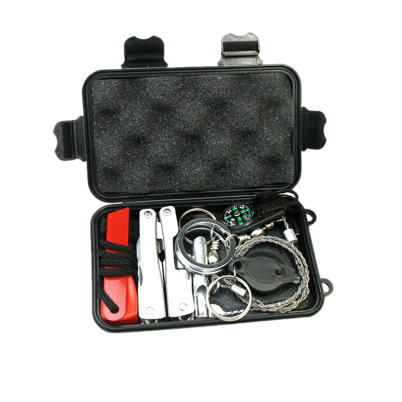 Outdoor Emergency Equipment SOS Kit First Aid Kit Supplies Camping Survival Self-Service Kit Tool Kit