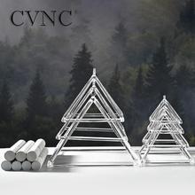 CVNC 4 10 Cal 7 sztuk jasny kryształ śpiew piramidy