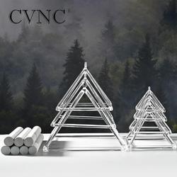 CVNC 4-10 pouces 7 pièces pyramide chantante en cristal clair