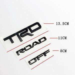 Image 3 - Toyota TRD Pro 로고 용 자동차 펜더 스티커 도어 배지 액세서리 Camry Auris Yaris Rav4 Prius Prado Land Cruiser CHR