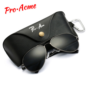 Pro Acme 3Size Large Metal Polarized Sunglasses Men Women Classic Pilot Driving Sun Glasses Twin-Beams Frame Dropshipping PA1052