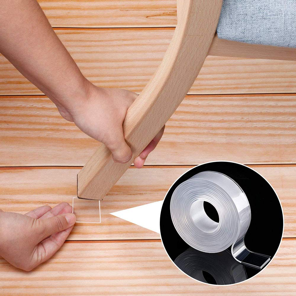 1/2/3/6m Double-Sided Adhesive Nano Magic Tape Traceless Reusable Removable Sticker Washable Adhesive Home Improvement Bathroom 3