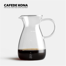CAFEDE KONA coffee pot 500ml Hand Drip Can household heat-resistant glass